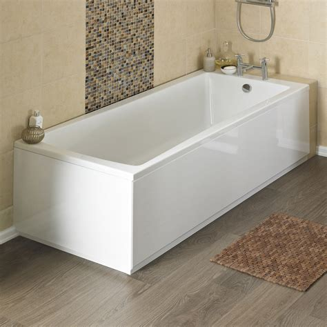 Straight Shower Bath 1700 linton square single ended acrylic bath at victorian