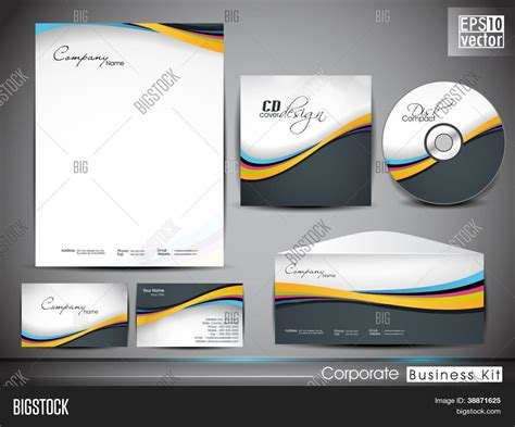 Instant Business Letter Kit professional corporate identity kit or business kit with