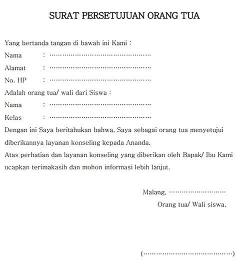 contoh surat untuk orang tua wisata dan info sumbar