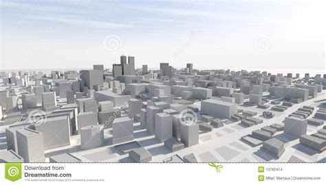 House Models And Plans 3d city panorama stock images image 13782414