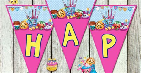 shopkins happy birthday banner printable shopkins happy birthday banner shopkins shopkins 9 86