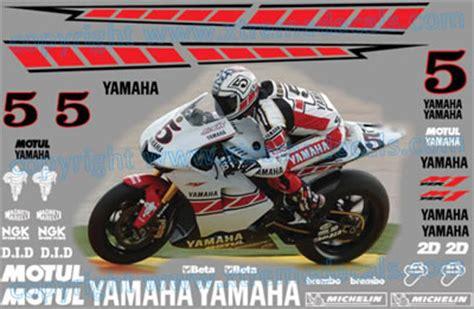 Yamaha Speedblock Aufkleber by Quality Racebike Decal Kits Racebike Decal Kits For Your