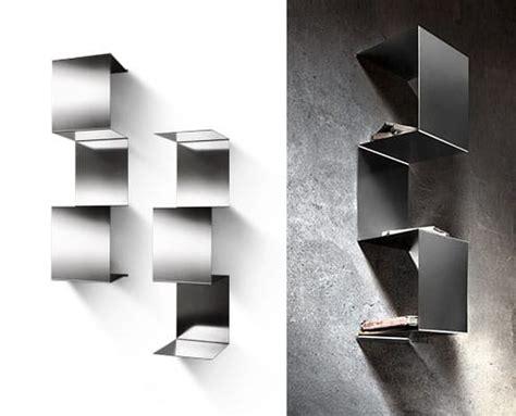 mensole acciaio inox specchi in legno vecchio di recupero patchwork