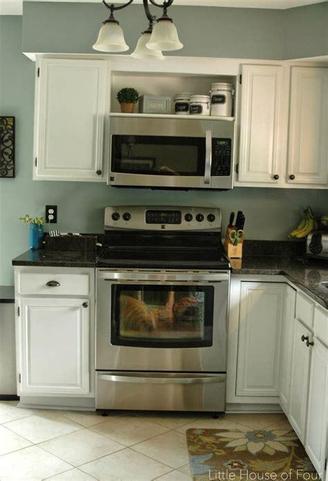 Kitchen Microwave Cabinet by Image Result For Open Cabinet Microwave For The