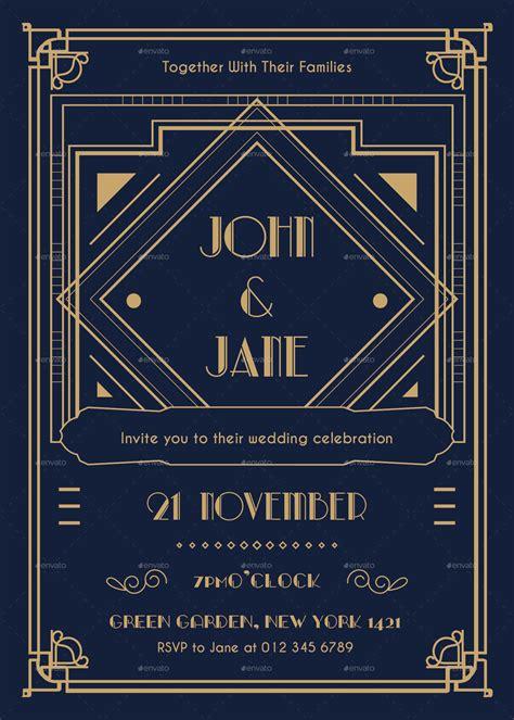 deco templates deco wedding invitation by infinite78910 graphicriver