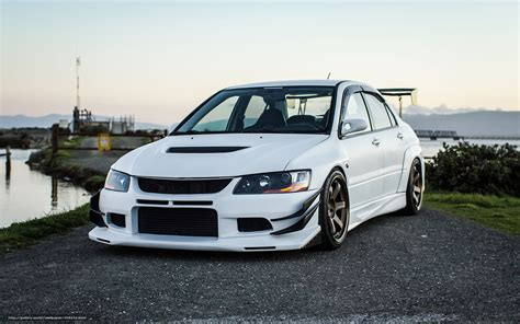 white mitsubishi evo wallpaper white 9 lancer evolution viii ix pinterest evo and