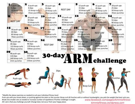 30 day bench press challenge 30 day arm challenge begins august 1 2013 kimmiefitness