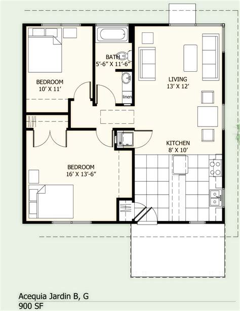 Shotgun House Floor Plans by 900 Sq Ft House Plans With Open Design 900 Square Foot