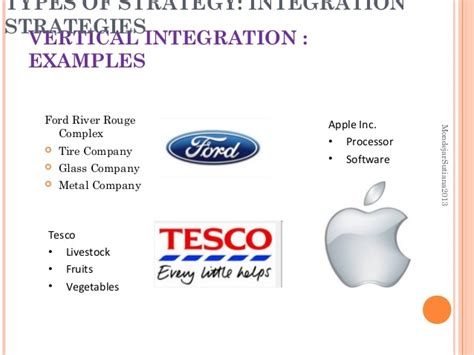 exle of vertical integration strategic management types of strategy