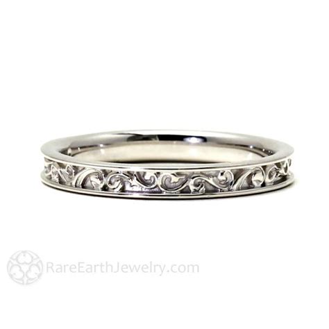 Filigree Wedding Band Art Deco Inspired ? Rare Earth Jewelry