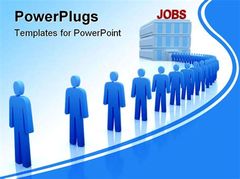 powerpoint templates job work center the unemployed looking for a job powerpoint