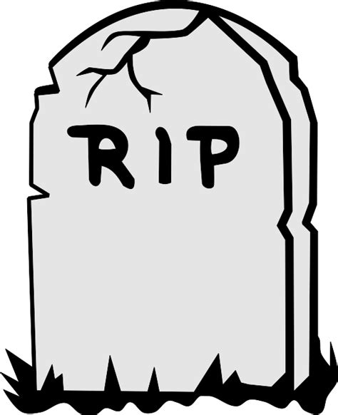 rip template tombstone template clipart best