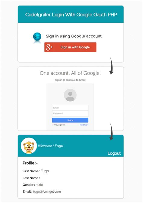sle codeigniter application download login with google codeigniter oauth api php client formget