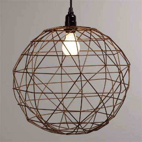 World Market Pendant Light Bronze Twisted Wire Pendant L World Market