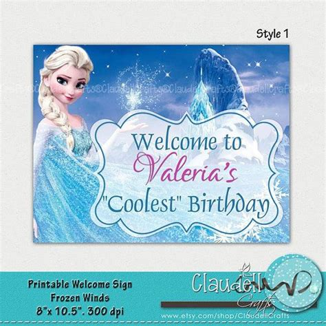 frozen printable welcome frozen winds inspired printable welcome sign 300 dpi