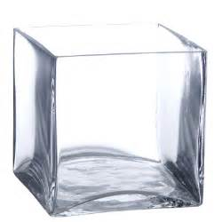 6 quot square vases clear glass square vases