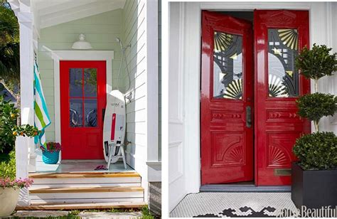 red front door decorating with red centsational girl