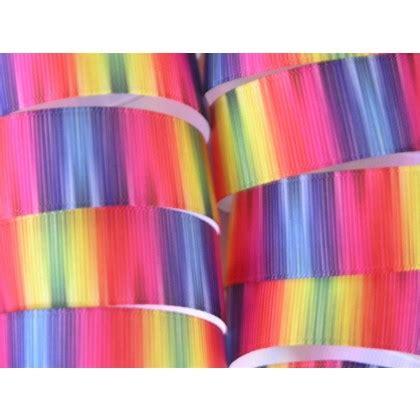5 yards 7 8 quot rainbow tie dye print grosgrain ribbon