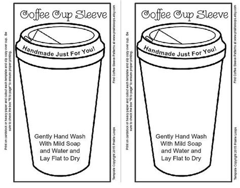 template for coffee cup sleeve 1000 ideas about coffee cup crafts on cup