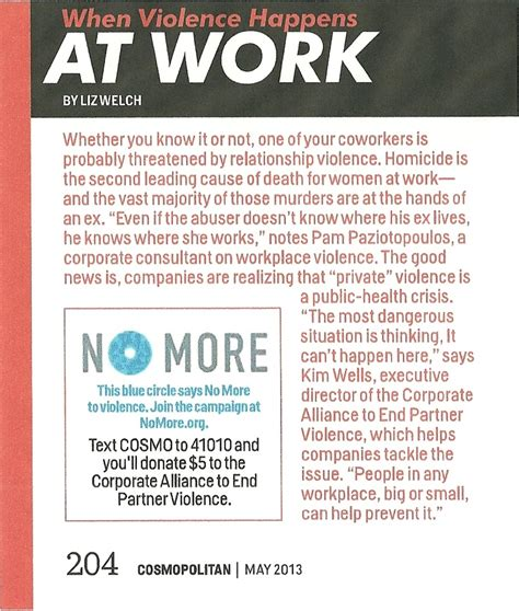 cosmopolitan article cosmopolitan article quot when violence happens at work quot and