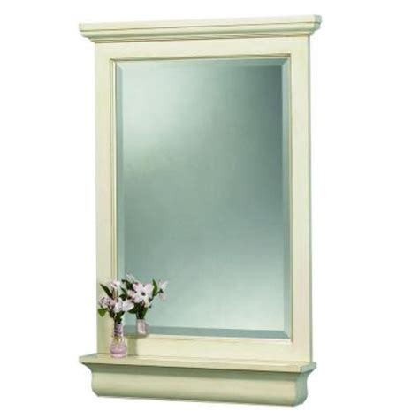 Home Depot Vanity Mirror by Foremost Cottage 38 In L X 28 In W Vanity Wall Mirror In