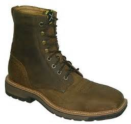 mens twisted x lite weight square steel toe work lace up boots
