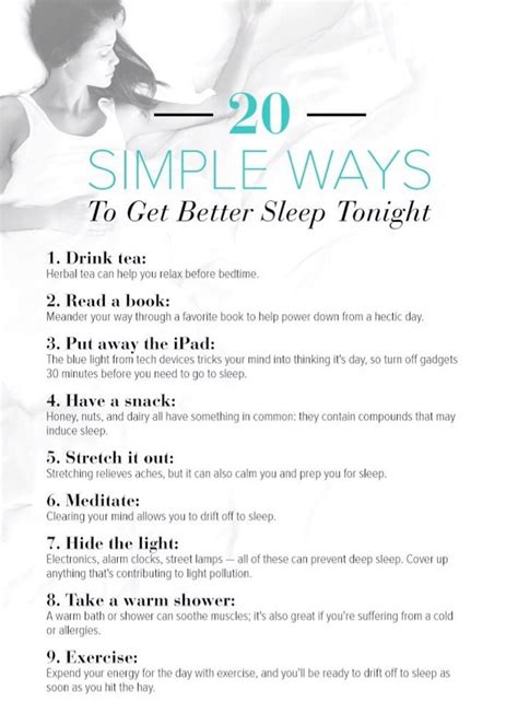 Ways To Get A by 2 0 Simple Ways To Get Better Sleep Tonight Musely
