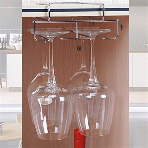 under cabinet hanging shelf stemware hanging wine glass rack holder frame hanger under