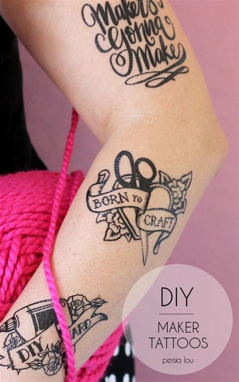 fake tattoos diy best 25 temporary paper ideas on