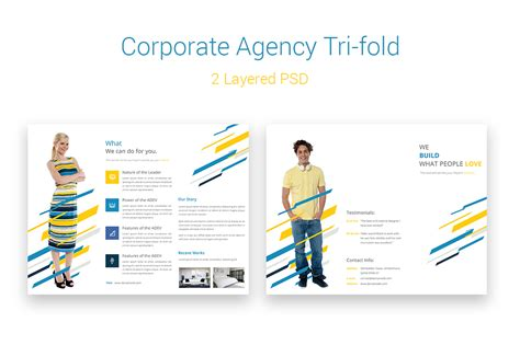 corporate agency tri fold brochure brochure templates on