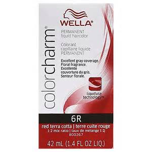 wella color charm wella color charm permanent liquid haircolor 6r terra