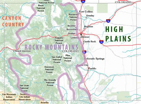 geographical map of colorado colorado backpacking guide colorado s areas