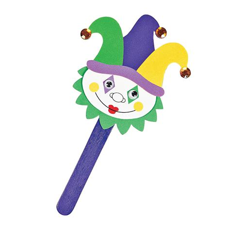 Home Decor On Sale Clearance by Mardi Gras Jester Puppets Craft Kit Oriental Trading