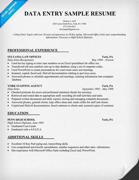 Data Entry Clerk Resume by Justice Using The Mla Format To Cite Supreme Court