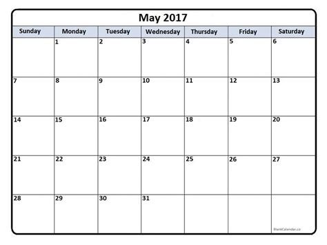 May 2017 Calendar May 2017 Calendar May 2017 Calendar Printable