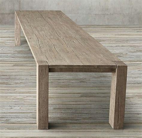 parsons table restoration hardware restoration hardware reclaimed oak parsons table