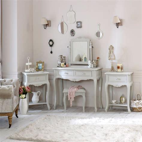 grey wooden bedroom set bundle dressing table mirror stool