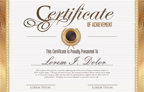 graphic design certificate denver vector template certificates design graphics 05 vector