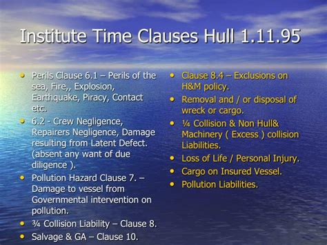earthquake exclusion clause ppt marine insurance act 1906 powerpoint presentation