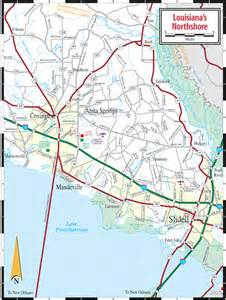 louisiana driving map louisiana northshore map