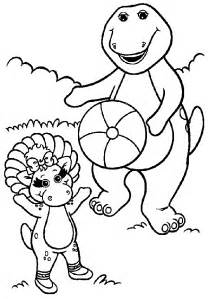pics photos free printable barney coloring pages
