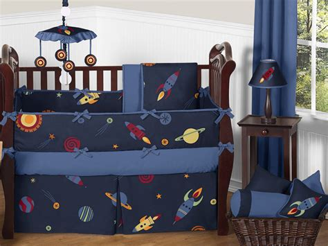 outer space crib bedding sweet jojo designs navy blue outer space stars planets baby boy bedding crib set ebay