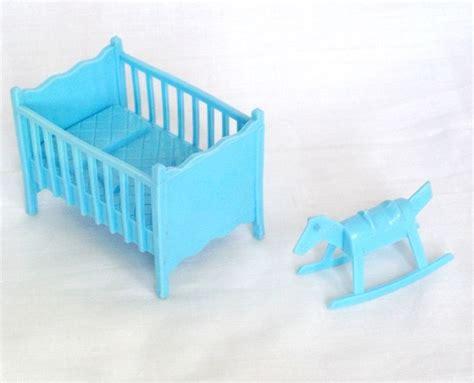 plastic crib marx plastic dollhouse furniture nursery crib blue contemporary 1 24 ebay