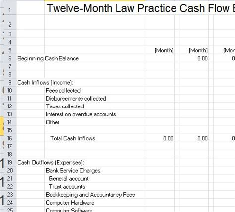 law firm budget template excel excel budget template