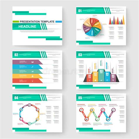 Set Of Presentation Slide Templates Powerpoint Stock Vector Illustration Of Company Info Slide Templates For Business