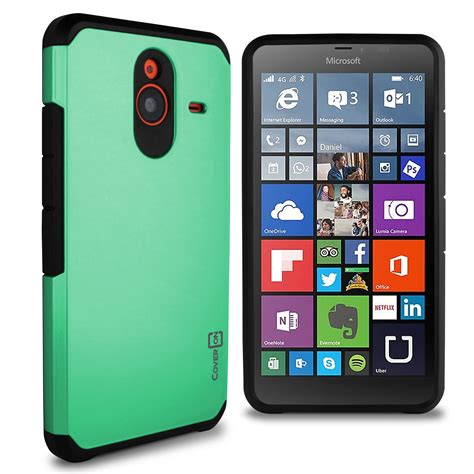Microsoft Lumia 640 Casing Cover Hybrid Armor Soft Bumper coveron 174 for microsoft lumia 640 xl hybrid armor tough slim phone cover ebay
