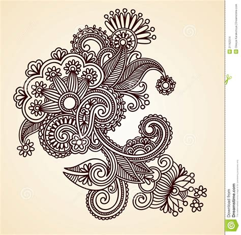 abstract henna design element stock vector illustration
