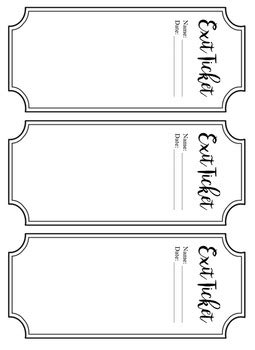 Exit Card Template by Exit Ticket Template Free By Bitsbybets Teachers Pay