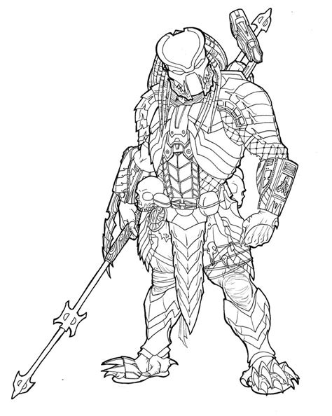 Predator Mask Coloring Pages by Predator Coloring Pencil And In Color