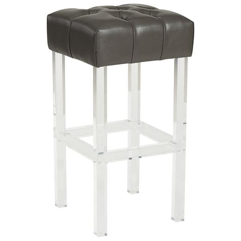 Fixed Bar Stools by Noor 30 Quot Bar Stool In Grey Fixed Height Stools Stools